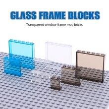 City Friends bloques de construcción de ventana, Panel transparente, piezas de Casa de pared, vista a la calle, accesorios, MOC, piezas, juguetes educativos