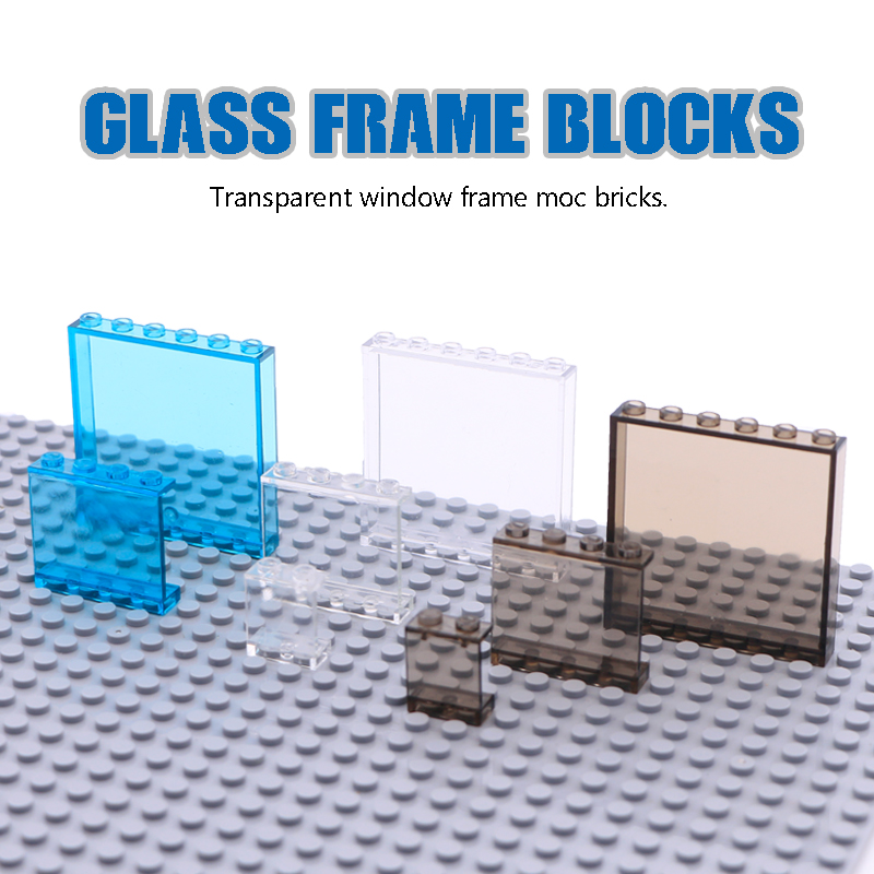 LegoINGlys City Building Blocks Window Frame Transparent Panel Wall House Parts Street View Friends Accessories MOC Bricks Toys
