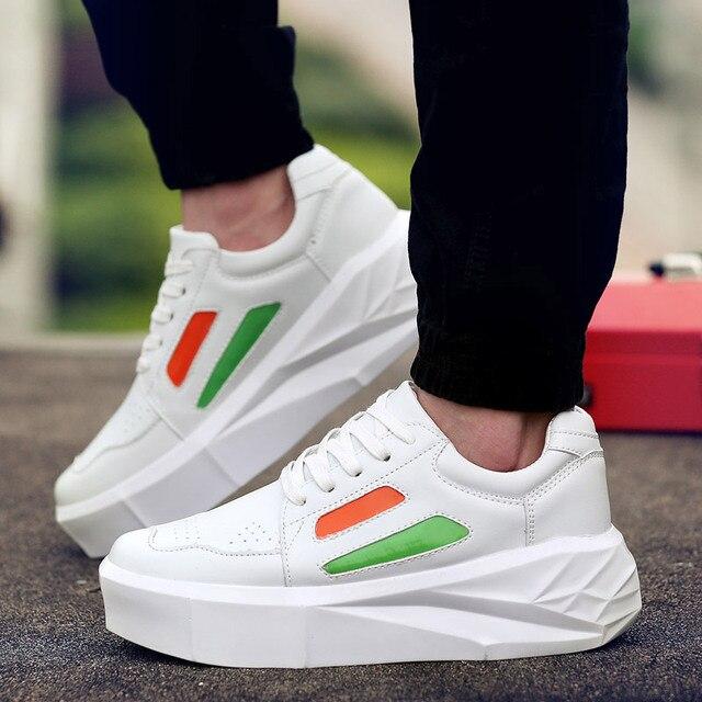 High Heels Basket Cheap Tenis Casual Platform Men Shoes White Male Krasovki  Valentine Shoe Designer High 711637292e26
