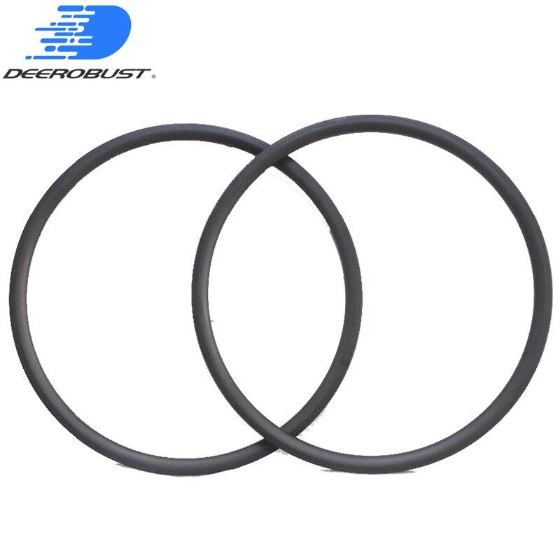 U Shape 30mm Deep 700c Carbon Road Tubular Bicycle Wheel Rims Bike Wheels, 25mm Width