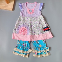 Baby girls summer dress Outfits Infants and Children dresses  soft Ruffle flower frocks for kids kids boutique clothing цена