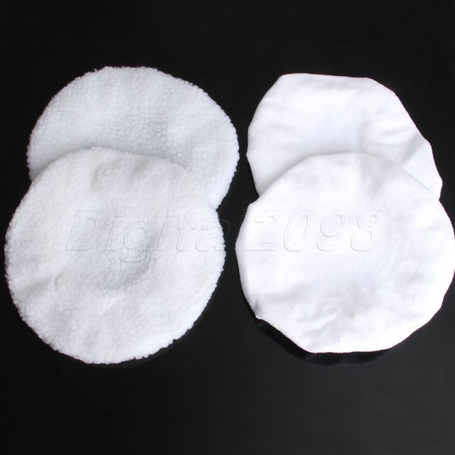 Yetaha 2Pair 23cm Soft Wool Car Polishing Bonnet Buffer Pads For 9inch 10inch Car Polisher Waxing Auto Polish Sponge Cover Pad