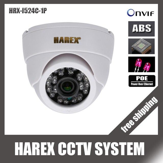 1280*720 P 1.0mp POE 24 шт. светодиодов IP купол Камера ONVIF Крытый ИК-Ночное видение plug and играй, бесплатная доставка