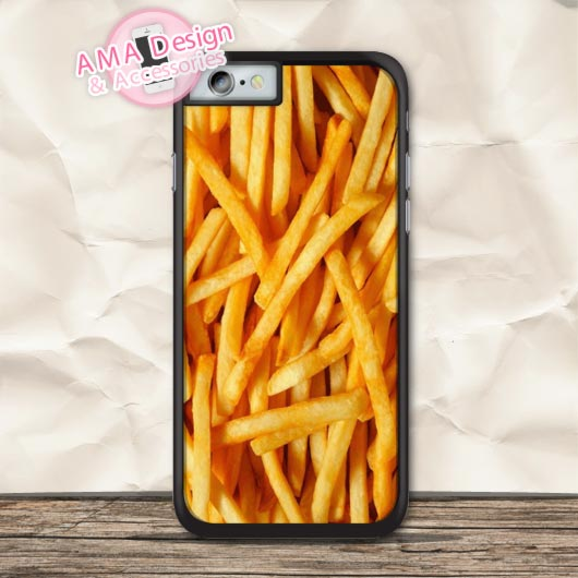 French Fries Funny Protective Case For iPhone X 8 7 6 6s Plus 5 5s SE 5c 4 4s For iPod Touch