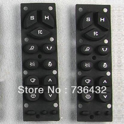 Fast Free shipping!Kobelco SK-3 control console keys / Kobelco rubber key pad/Kobelco digger parts/Kobelco excavator spare parts