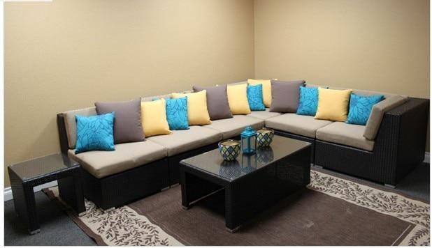 2017 Hot Sale Trade Assurance Royal Resin Wicker Modern Metal Corner Sofa  Set Designs