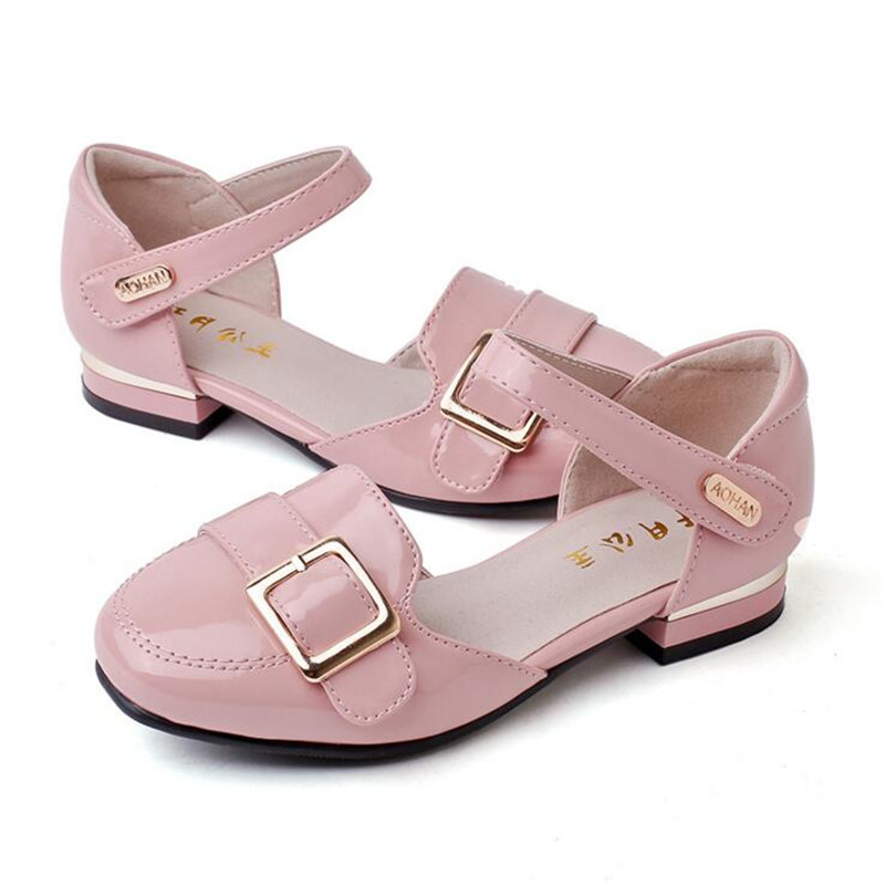 Children Leather Shoes Girls Performance Spring Autumn the Latest Shoes  Fashion Brand Dress Princess Kids Wedding Shoes Brand-in Leather Shoes from  Mother ... b7c3212486da