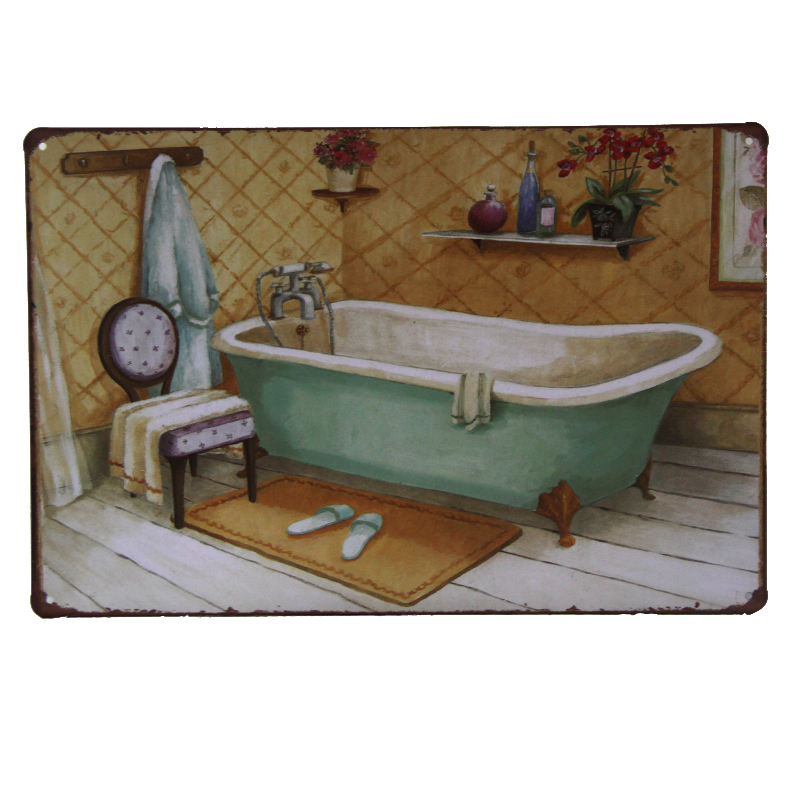 online buy wholesale bathroom metal signs from china bathroom metal signs wholesalers. Black Bedroom Furniture Sets. Home Design Ideas