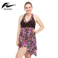 Plus Size Swimwear For Women One Piece Bathing Suits Size 2XL 6XL Outdoor Sportswear Summer Swimming
