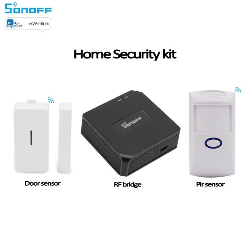 Sonoff RF Bridge 433/PIR2 PIR Sensor+DW1 Door &Window Alarm Sensor Smart Home Automation Work With Alexa Google Home Ewelink APP