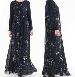 Мода мусульманский арабское, с длинными рукавами, накидка, Восточный халат Исламская халат Абаи Дубайский мусульманский Малайзии кафтан