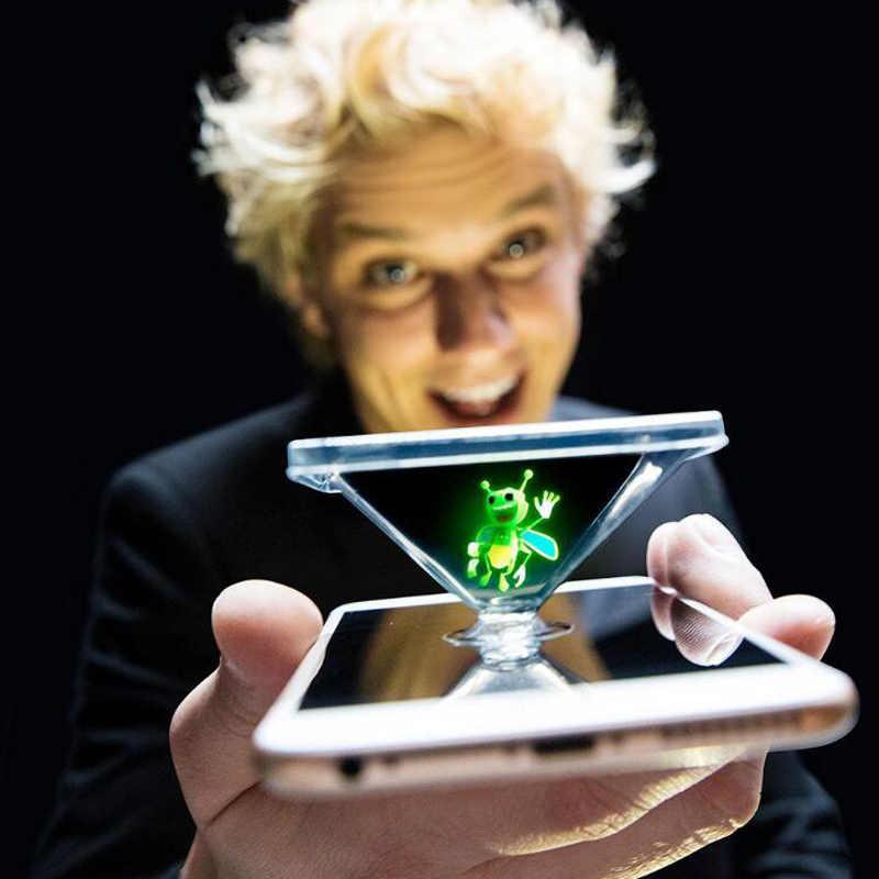Luz de estallido honeybee linterna mágica nuevo juguete dedo mágico prop lámpara 3D holograma proyección juguete actuación de fiesta luz mágica