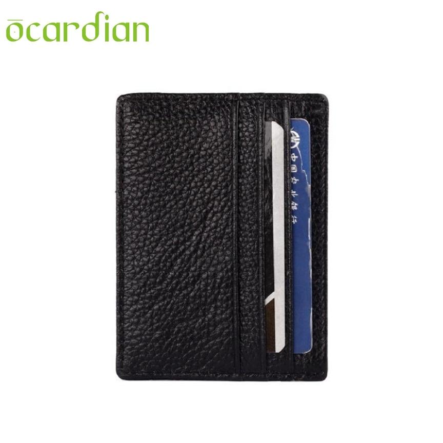 OCARDIAN New Fashion Mini Unisex Retro PU Leather Wallet Credit ID Card Purse 29S61123 Mar 21 6 cavities two color aluminum alloy lipstick mold 1set