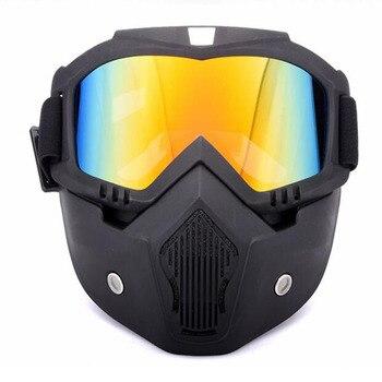 Gafas de esquí RZOJUNMA, gafas de moto, gafas de Motocross, gafas de casco a prueba de viento, cascos de Motocross, gafas de máscara