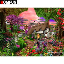 HOMFUN 5D DIY Diamond Painting Full Square/Round Drill Garden House 3D Embroidery Cross Stitch gift Home Decor A08251 homfun full square round drill 5d diy diamond painting garden