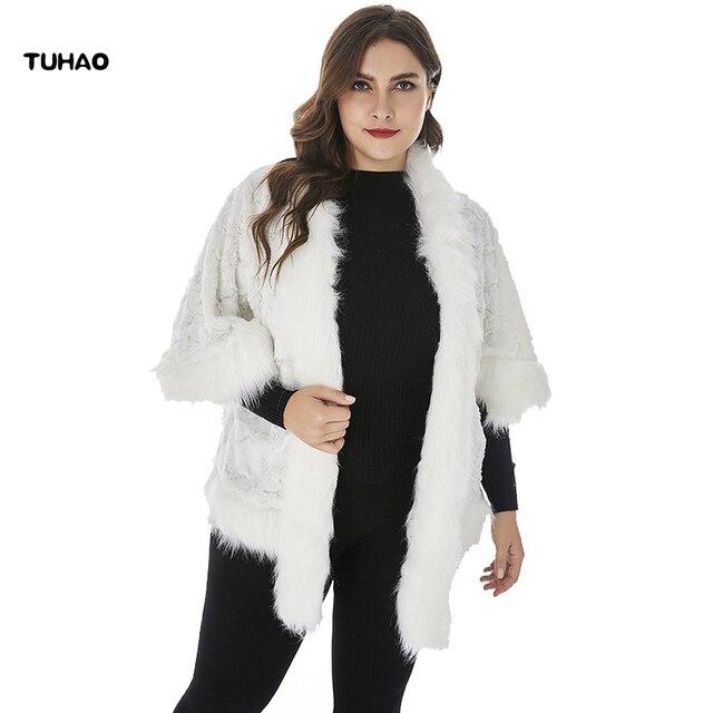 107a9aa2fab TUHAO 2018 Plus Size 4XL 5XL 6XL Women Faux Fur Coat Fluffy Winter Casual Fur  Jacket Elegant Ladies Short Outwear Coats ZPZ