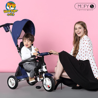 Small huzi folding child tricycle bike inflatable baby stroller baby bicycle buggiest