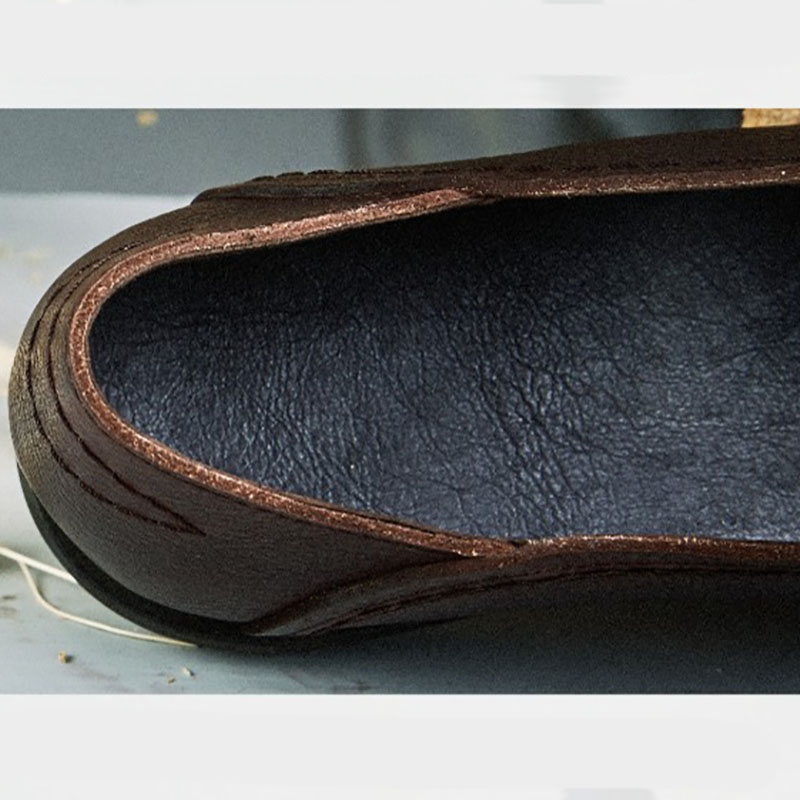 Artística Las Mano A Algodón Solo Zapato Cáñamo Cabeza Plana Hecho Capa Mujeres Piel De Prendas Redonda Zapatos Cuero Coffee Cómoda Y Vaca Retro Vestir Szxdv5wdq
