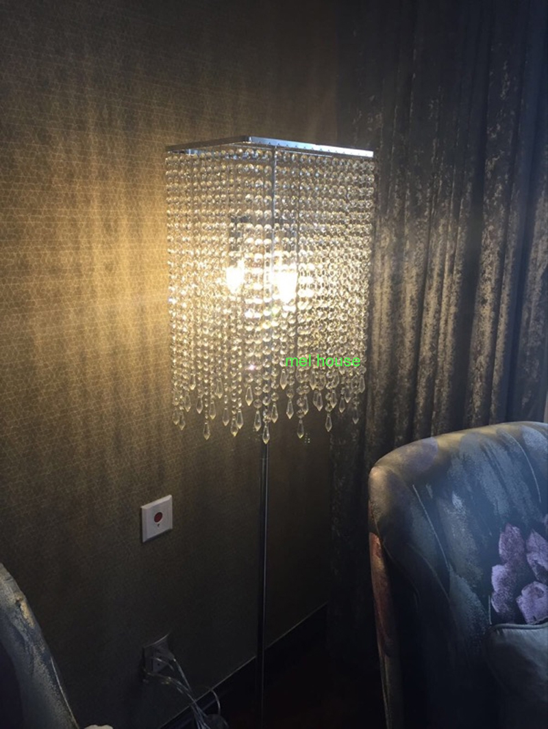Modern crystal floor lamp - Aliexpress Com Buy Led Crystal Floor Lights Modern Crystal Floor Lamp Lustres Floor Stand Light Fixture Cristal Silver Candelabra Standing Lamp From