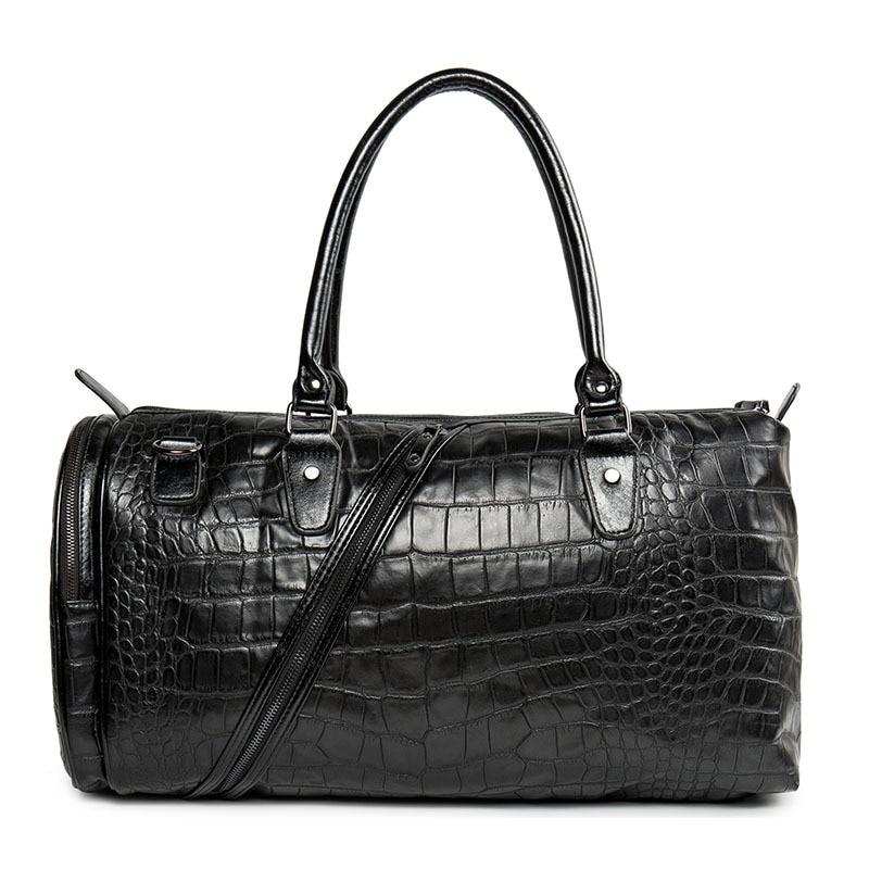 все цены на Men Tote Travel Bag for suitcase Male Leather Handbags Duffle Bag Suitcase Carry on Luggage Bags Weekend Big Bags bolsa feminina онлайн