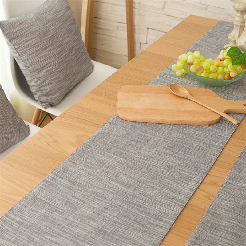 Japanese style table runers gray restaurant tablecloths and Placemat Sets Table Decoration christmas tablecloth table runner-in Table Runners from Home ... & Japanese style table runers gray restaurant tablecloths and Placemat ...