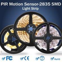 PIR 5V Led Strip Light Motion Sensor Tiras Lamp 50CM 1M 2M 3M 4M 5M Neon Tape Ribbon SMD 2835 Stairs Closet Night Lighting
