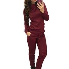 New Female Running Sets Leisure sports suit Women Tracksuit Sweatshirt Pants Sport Lounge Wear Suit