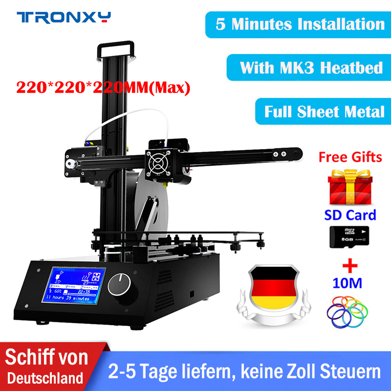 Tronxy DIY 3d Printer kit X2 Full metal 3D Printing size 220*220*220mm whole Aluminium Metal High Precision Education 3D Printer zonestar newest full metal aluminum frame big size 300mm x 300mm auto level laser engraving run out decect 3d printer diy kit