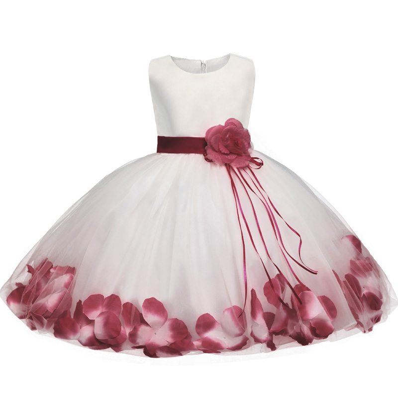 8d0ab27ffc38 Newborn Dresses For Baby Girls Flowers Toddler Christening Gown Kids ...