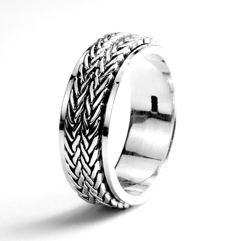 925 Sterling SilverRope Ring