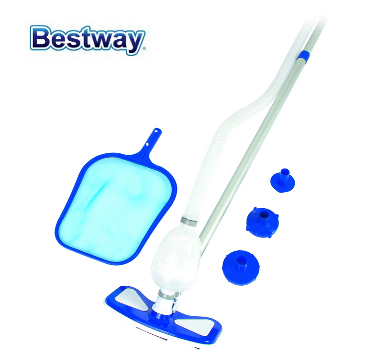 58234 Bestway AquaClean Pool Cleaning Kit Clean Set with Multi Adapter & Adjustable 2.79m Pole for all Bestway Pools & Filters