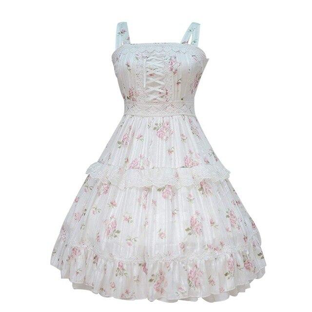 27d595ad9d5af Sweet Girls Super Cute To Alice Alice in Wonderland Fairytale JSK Lolita  Dress Suspender Sleeveless Fancy Dress -in Lolita Dresses from Novelty & ...