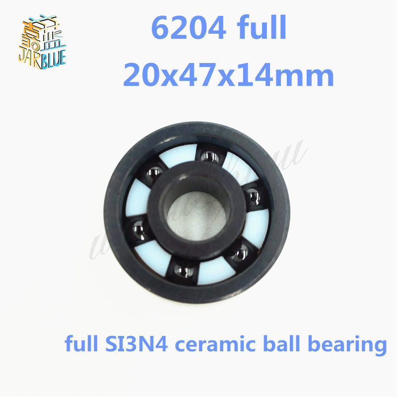 Free shipping 6204 full SI3N4 ceramic deep groove ball bearing 20x47x14mm full complement цена и фото