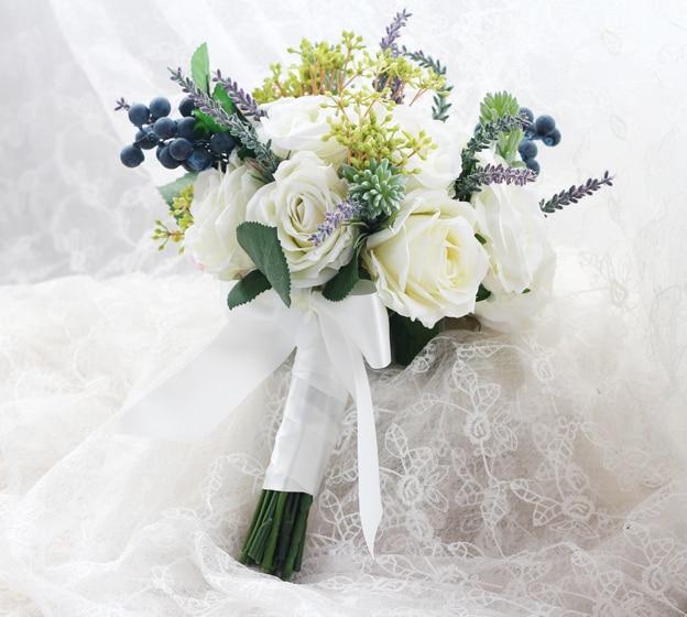 New Arrival Artificial Wedding Bouquets Bouquet De Mariage Artificiel Wedding Bridal Bouquet Ramo De Flores Novia In Stock