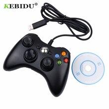 Kebidu USB kablolu Joypad Gamepad denetleyicisi için Microsoft oyun sistemi PC Laptop Windows 7 toptan