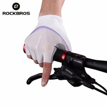 ROCKBROS Women Cycling Gloves Comfortable Soft Breathable Bicycle Gloves Road MTB Bike Damping Palm Pad Glove Guantes Ciclismo