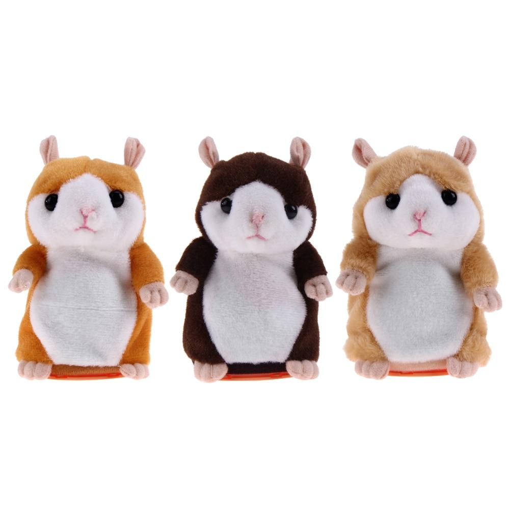 2017 Lovely Talking Hamster Pet Plush Toy Hamster Educational Cute Speak Talking Sound Record Toy for Children Christmas Gift