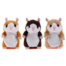 2017 Lovely Talking Hamster Toys for Children Pet Plush Toy Educational Cute Speak Christmas Gift Battery Power Support