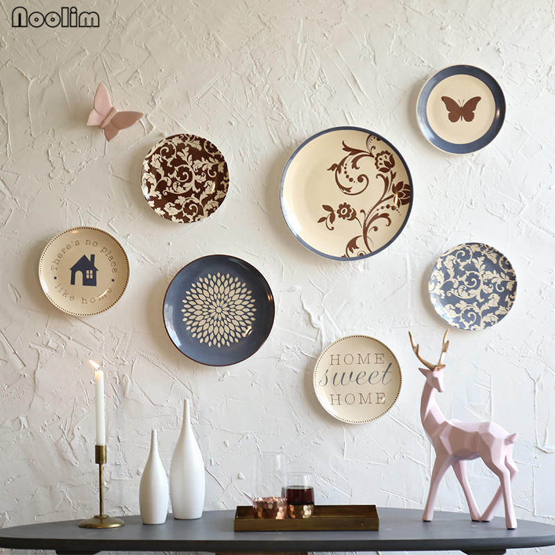 Decorative Plates To Hang On Wall.Us 10 21 29 Off Noolim Creative Ceramic Wall Hanging Plate Restaurant Wall Hanging Decorative Plate Ornaments Cafe Bar Wall Decoration In Bowls
