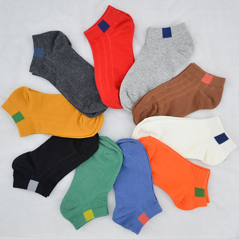 10 Pair/set Solid Color Cotton Women Short Casual   Socks   Fashion Mark Women Summer Short Ankle Low Cut   Socks   with Gift Box