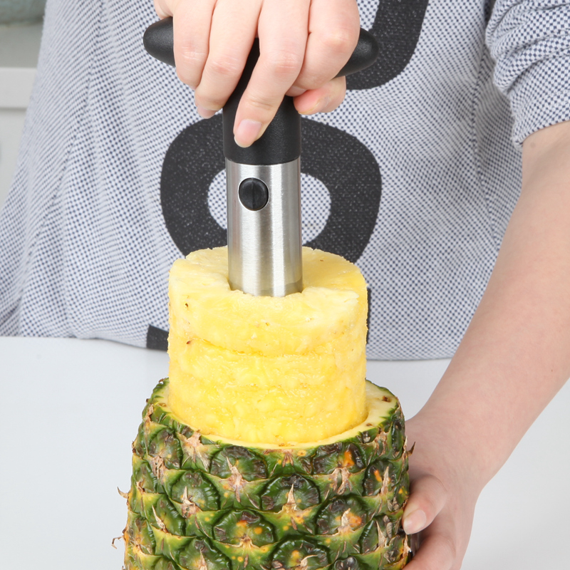 New Peeler Stainless Steel Pineapple Slicer Cutter Fruit Peelers Zesters Pineapple Corer Knife Fruit Tools Kitchen Accessories in Peelers Zesters from Home Garden