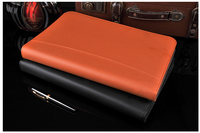 multifunctional PU leather documents bag business zipper portfolio A4 file folder with calculator office supplies black blue red