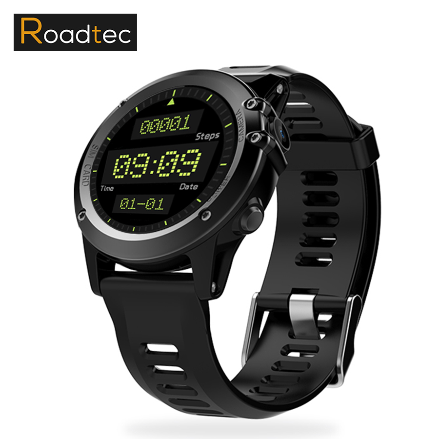ROADTEC H1 Bluetooth Smart Watch Phone 3G WIFI GPS MP3 Phone Book  Android Smartwatch Wristwatch Waterproof Wearable Devices 2 2 inch big screen smart watch android adult smartwatch inteligente wearable devices 512mb 4gb gps wifi bluetooth passometer