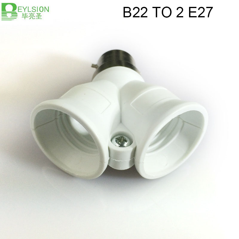 0624 B22 TO 2 E27 Adapter lights lamps lightings socket04