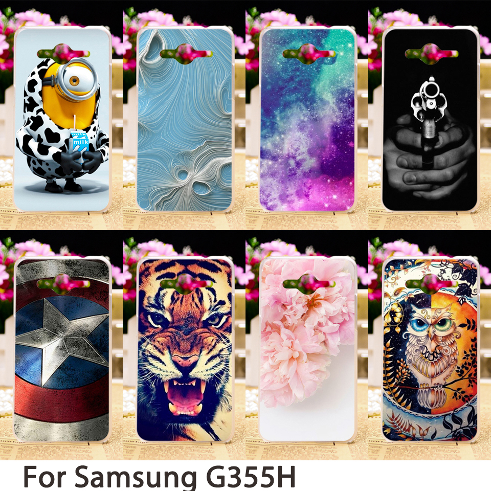 3C Accessories Shops Store Mobile Phone Cases For Samsung Galaxy Core II G355H Cover G355M Galaxy Core 2 Core2 G355 Case Hard Soft Skin Housing Sheath Bag