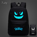 Pokemon Gengar nightlight fashion casual Men's Backpack backpack Anime Luminous teenagers Men women Student Cartoon School Bags