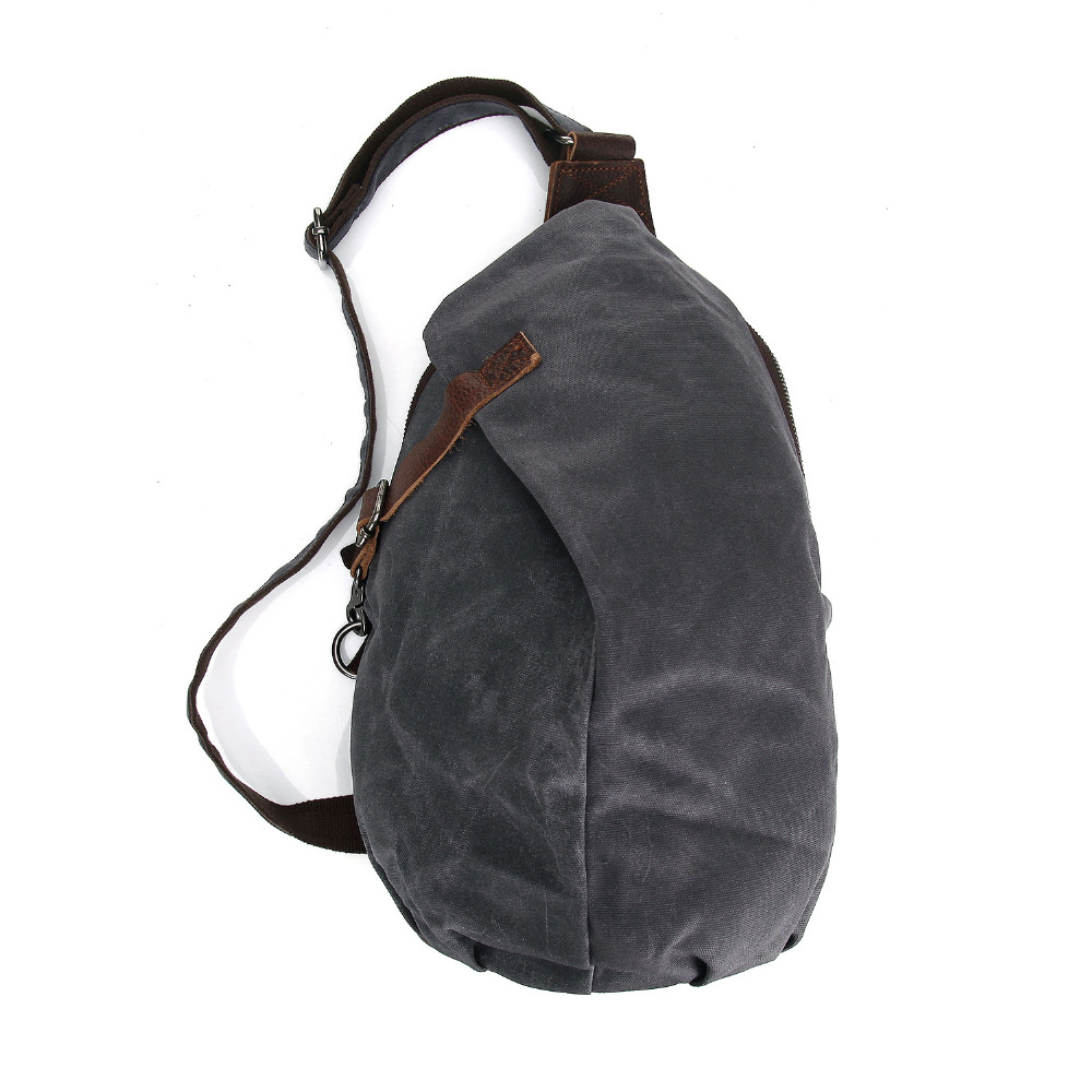 Canvas Chest Bags Retro Crossbody Bags Waterproof Male Shoulder Bags Hobos Shape Chest Bags MS2040
