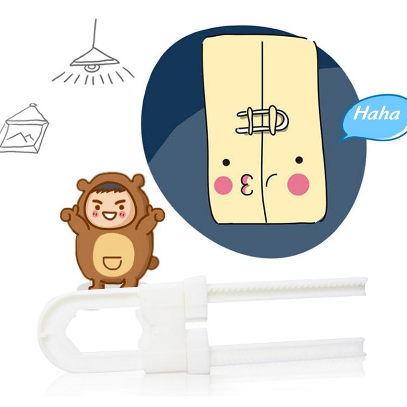 Купить с кэшбэком 2 Pieces/Lot  U shaped Adjustable Baby Kids Child Infant Safety Care Guard Cabinet Cupboard Door Guard Protector Lock
