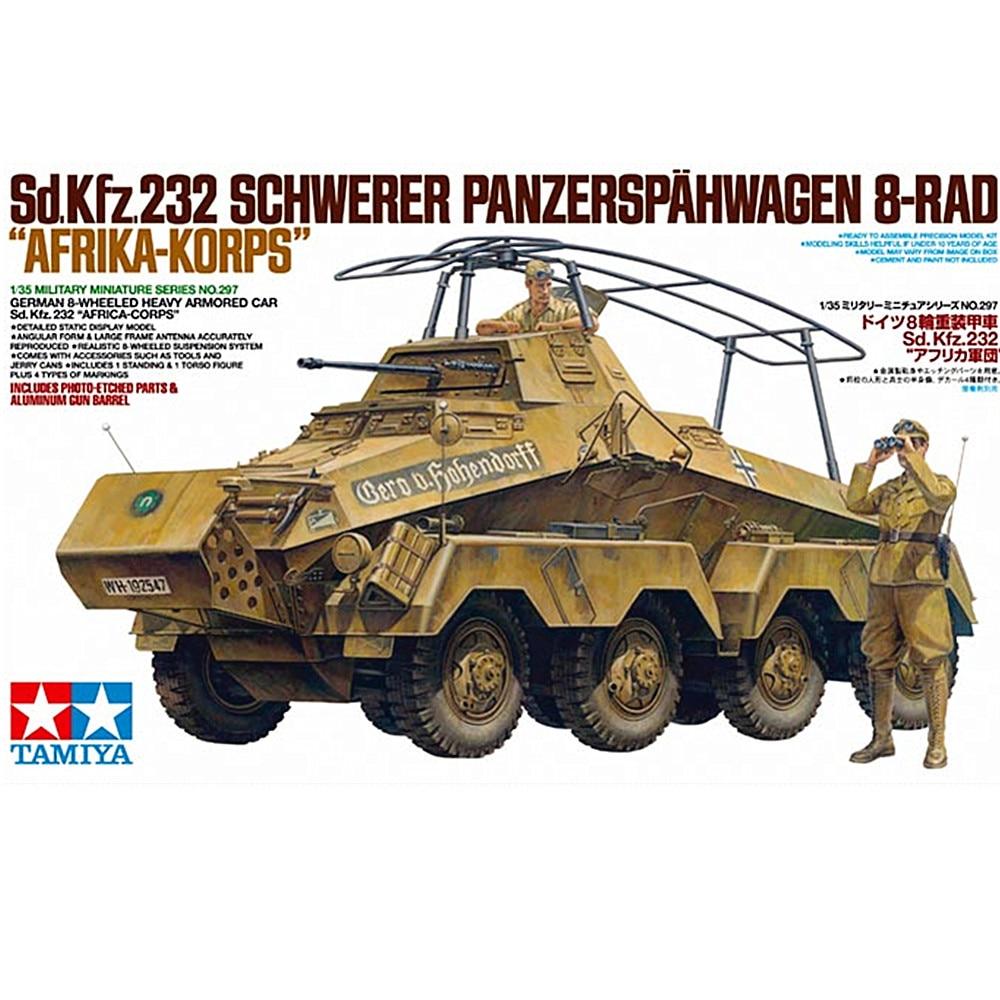 OHS Tamiya 35297 1/35 Sd Kfz232 Schwerer Panzerspahwagen 8Rad Africa Military Assembly AFV Model Building Kits G недорго, оригинальная цена