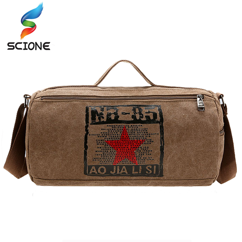 2018 Hot Canvas Sport Bag Training Gym Bag Men Woman Fitness Bags Durable Multifunction Military Handbag Outdoor Tote For Male